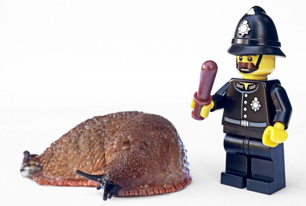 police character controlling slug